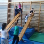 Les élèves de 1ère année primaire et la découverte de … la gym !